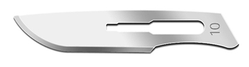 Picture of #10 British Stainless Steel Scalpel Blades – 10 Pack