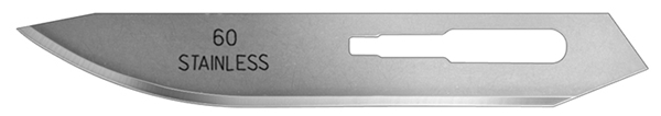 Picture of #60XT Stainless Steel Blades - Box of 100 - ON BACKORDER