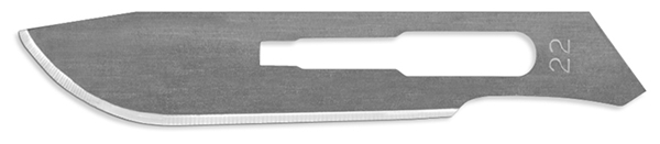 Picture of #22 Non-Sterile Carbon Steel Scalpel Blades - Box of 100